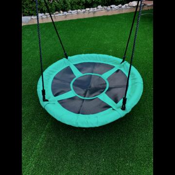 """Fészekhinta """"coaland"""" 1,8 m kötéllel zöld-fekete 160 kg teherbírás!"""