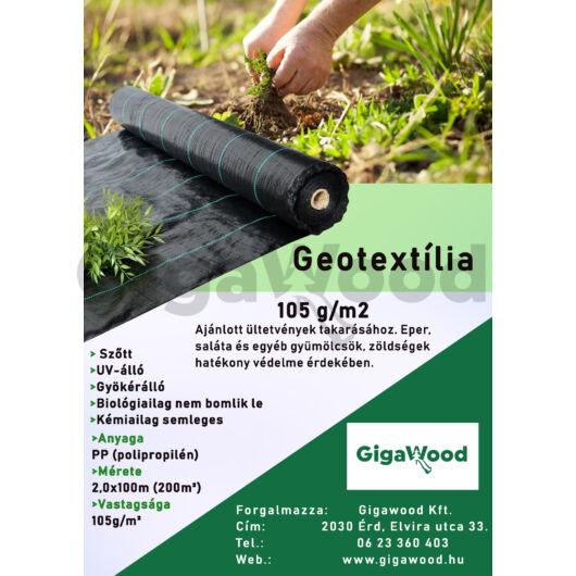 Geotextília PP szőtt 105 gr 2x100 m 200m2
