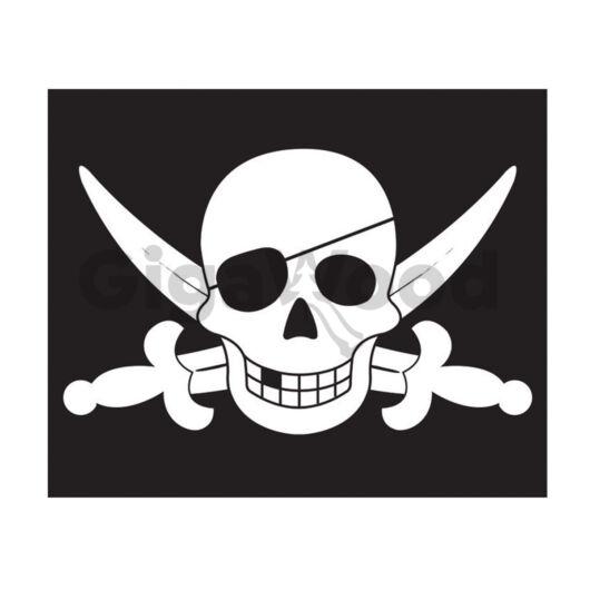 Zászló kalóz (emelő rendszerrel)