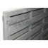 Kép 2/2 - Klassik kerítéselem egyenes SZÜRKE 180x180 (keret 45x45 mm)